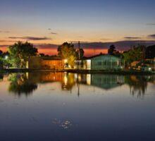 Tourlida twilight - Lagoon of Messolonghi Sticker