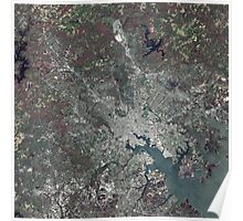Baltimore Harbor - Seen From Space  Poster