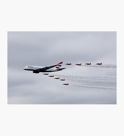 British Airways & The Red Arrows Photographic Print