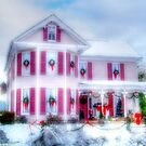 Pink Christmas House by James Brotherton