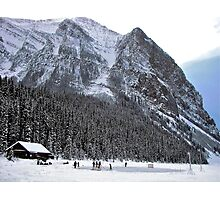 Hockey in the Canadian Rockies Photographic Print