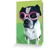 Boston Terrier in Goggles Greeting Card