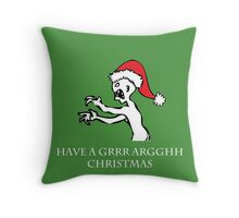 Grr Argh Christmas Throw Pillow