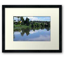 Across the River Framed Print
