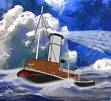 Sea going Steam Tugboat - all products bar duvet by Dennis Melling