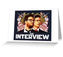The Interview (2014) - james franco , seth rogen Greeting Card