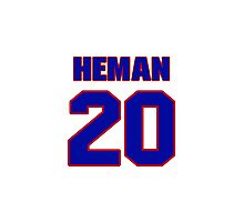 National baseball player Russ Heman jersey 20 Photographic Print
