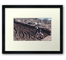 Motocross - In for the ride!  Cahuilla Creek MX - Vet X Racing Series (146 Views as of 5-9-2011) Framed Print