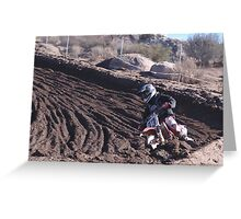Motocross - In for the ride!  Cahuilla Creek MX - Vet X Racing Series (146 Views as of 5-9-2011) Greeting Card