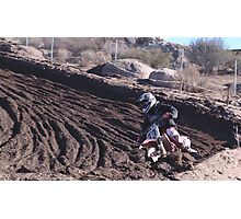 Motocross - In for the ride!  Cahuilla Creek MX - Vet X Racing Series (146 Views as of 5-9-2011) Photographic Print
