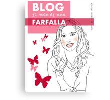 Blog il volo di una farfalla Canvas Print