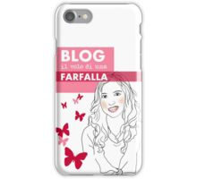 Blog il volo di una farfalla iPhone Case/Skin