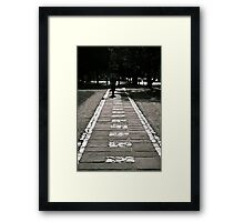 The White Brick Road Framed Print