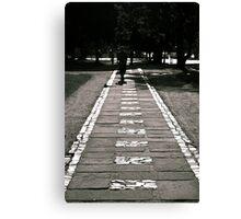 The White Brick Road Canvas Print