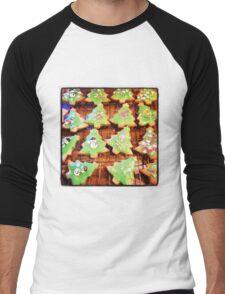 Christmas Biscuits Men's Baseball ¾ T-Shirt