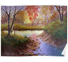 Autumn Reflections - Painting Poster