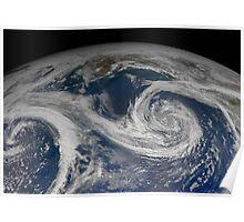 Springtime in the Gulf of Alaska - Amazing satellite image Poster