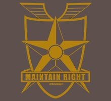 Mad Max Inspired Maintain Right Badge Gold Unisex T-Shirt