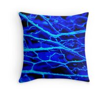 Blue Mystery Throw Pillow