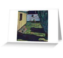 Backyard Greeting Card