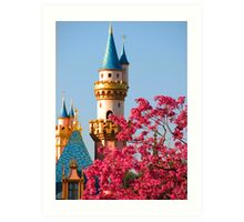 Sleeping Beauty Castle in the Spring Art Print