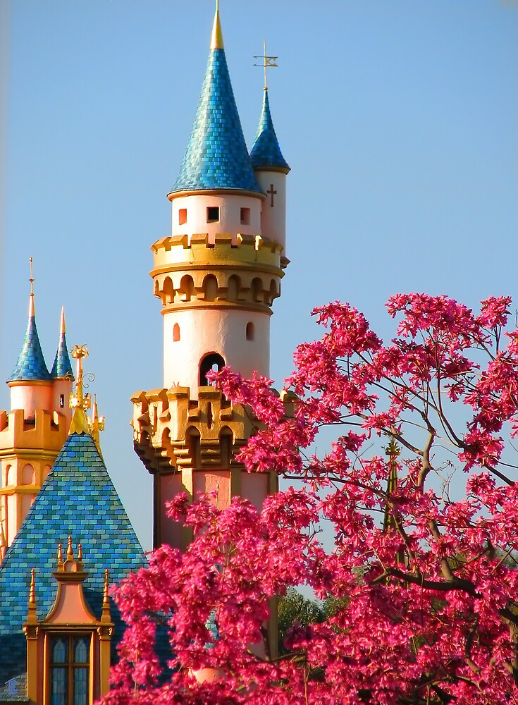 Sleeping Beauty Castle in the Spring by TLCGraphics