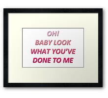 stockholm syndrome lyrics Framed Print