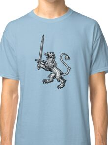 Lion with Sword - Cool T-Shirt Design Classic T-Shirt