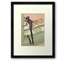 Dragonfly in armour Framed Print