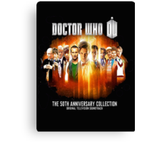 Doctor Who 50th Anniversary Canvas Print