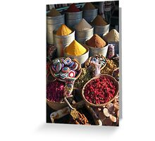 Spices & Roses Greeting Card