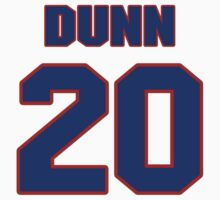 National baseball player Jim Dunn jersey 20 by imsport