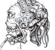smokin' skull by rowanpunk