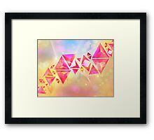 Background of 3d Triangles Framed Print