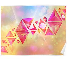 Background of 3d Triangles Poster