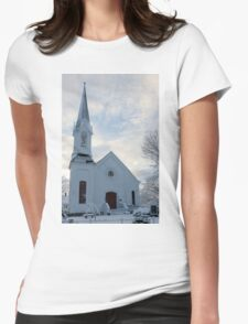 Newfields Community Church 01 Womens Fitted T-Shirt