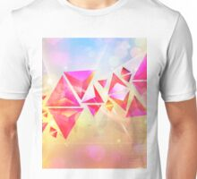 Background of 3d Triangles Unisex T-Shirt