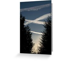 Plane Trails Greeting Card