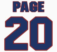 National baseball player Sam Page jersey 20 by imsport