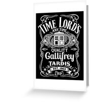 Doctor Who Time Lord's Quality Gallifrey Tardis Distressed Design Greeting Card