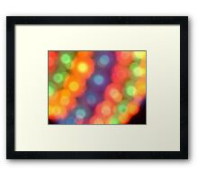 Abstract shiny background with colorful bokeh lights Framed Print