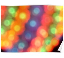 Abstract shiny background with colorful bokeh lights Poster