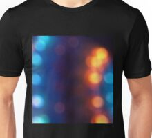 Abstract shiny background with colorful bokeh lights 2 Unisex T-Shirt