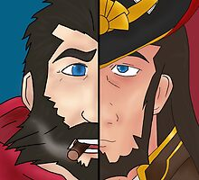 graves x twisted fate by RebeccaMcGoran