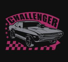 Dodge Challenger Girl Edition | Grey - Pink by GTOclothing