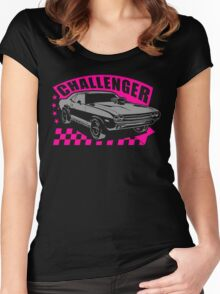 Dodge Challenger Girl Edition | Grey - Pink Women's Fitted Scoop T-Shirt