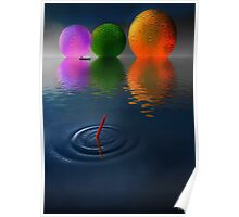 Floating Spheres Poster