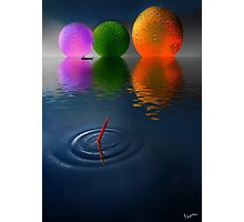 Floating Spheres Photographic Print