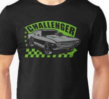 Dodge Challenger | Grey - Green Unisex T-Shirt