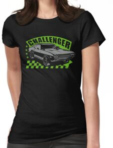 Dodge Challenger | Grey - Green Womens Fitted T-Shirt